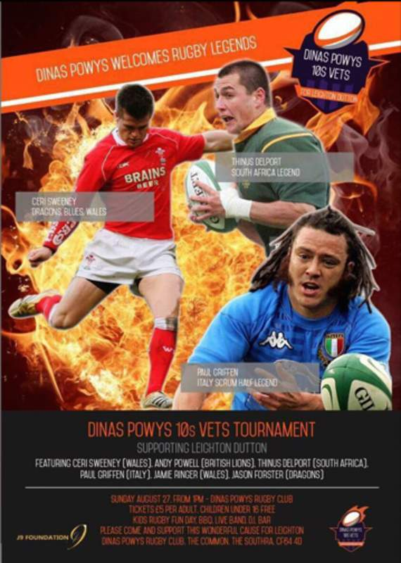 Charity rugby day for Leighton this weekend