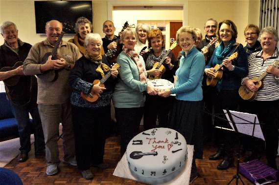 It's a piece of cake for the Llantwit Major Ukulele Band!